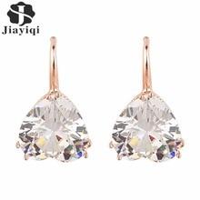Dangle sweet heart rhinestone rose girls earrings gold style summer crystal
