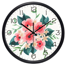 European Retro Flower Wall Clock