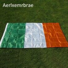 Frete grátis aerlxemrbrae bandeira irlanda 90*150 cm/3*5 pés grande pendurado irlanda eire bandeira nacional país bandeira