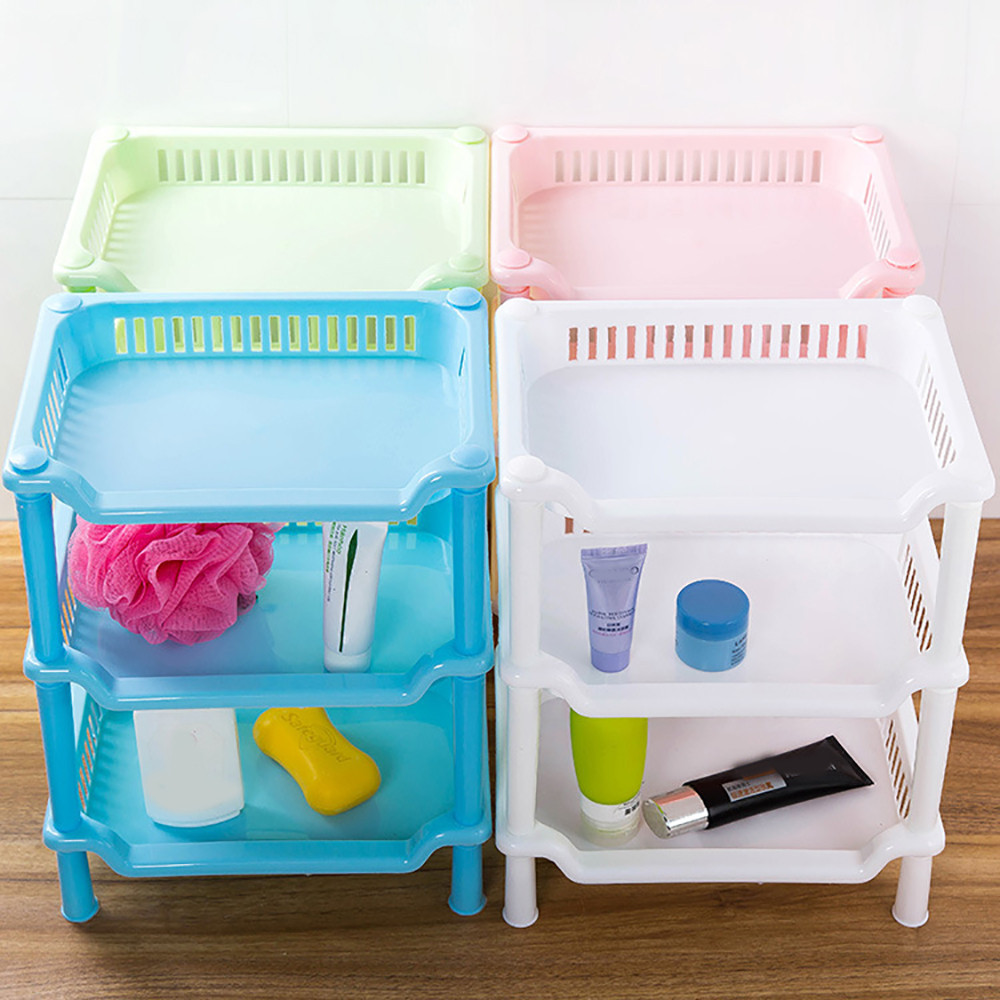 2017 3 Tier Plastic Corner Organizer Bathroom Caddy Shelf Kitchen ...