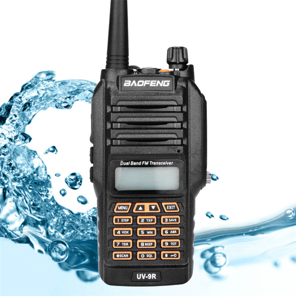 BF UV9R  Baofeng Walkie Talkie Waterproof Security Manual Frequency Modulation Receiver UV Dual Band Radio Antenna Walkie Talkie
