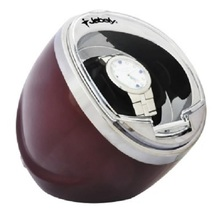 Jebely Tiempo Tutelar Negro Sola Automático Kinetic Watch Winder Nuevo JA003-Red