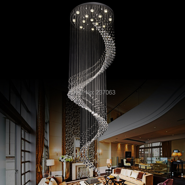 Aliexpress.com : buy luxury hall modern crystal chandelier led ...