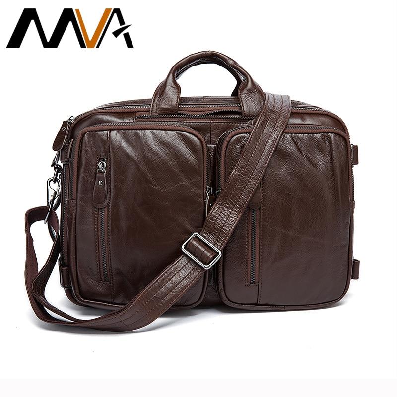 Genuine Leather Men Bags Multifunctional Men s Briefcase Crossbody Shoulder Handbag Men Messenger Large Travel Bags