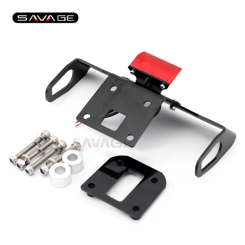 License Plate Holder For KAWASAKI Z 800 Z800 2013 2014 2015 2016 Motorcycle Accessories Tail Tidy Fender Eliminator LED Light in Covers Ornamental Mouldings from Automobiles Motorcycles