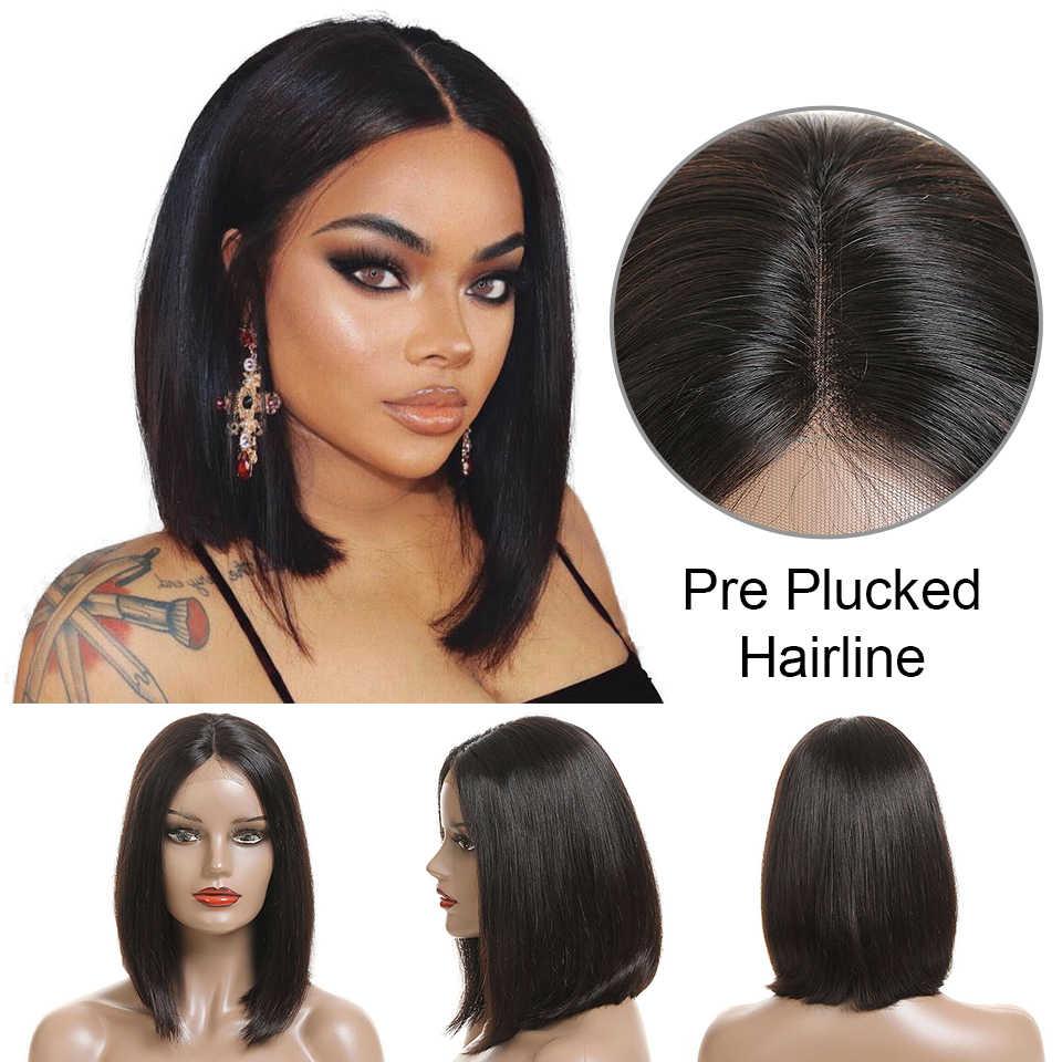 Али Grace короткие Блант Cut боб парик для черный Для женщин 613 боб парик бразильский Волосы remy короткие Синтетические волосы на кружеве человеческих волос парики
