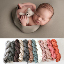 130*150cm Super Comfortable Newborn Stretch Wrap Swaddle Baby Photography Blankets Shooting Basket Filler Pic