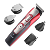 5 in 1 Professional Electric Shaver Cleaning Razor Haircutter Clipper Beard Nose Hair Trimmer Kemei Rechargeable Cutting Machine