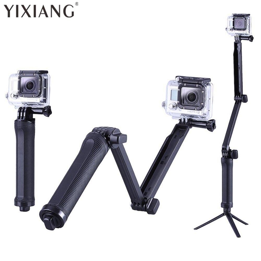 Yixiang Водонепроницаемый 3 Way монопод сцепление раздвижного кронштейна и крепление штатива для GoPro Hero 4 3 + <font><b>Xiaomi</b></font> <font><b>Yi</b></font> SJCAM SJ4000 камера телефона