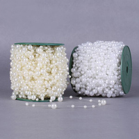 50Meters Roll 10MM And 5MM Plastic Beads Wire Pearl Bead Chain Wedding Supplies DIY Accessories Celebration