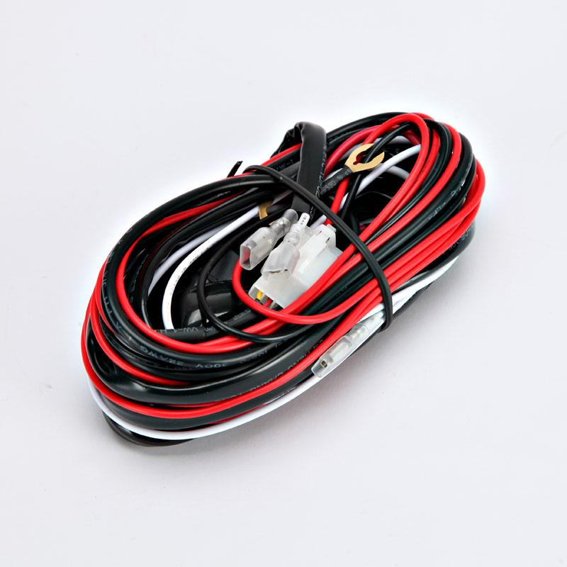 Auxmart Led Light Bar LED Driving light fog light wiring loom harness kit with fuse and relay Auto led work light cable