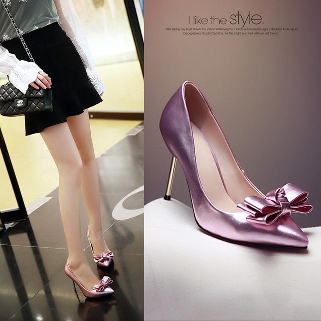 Spring Slip-On Shallow Solid Butterfly Bow Women Shoes