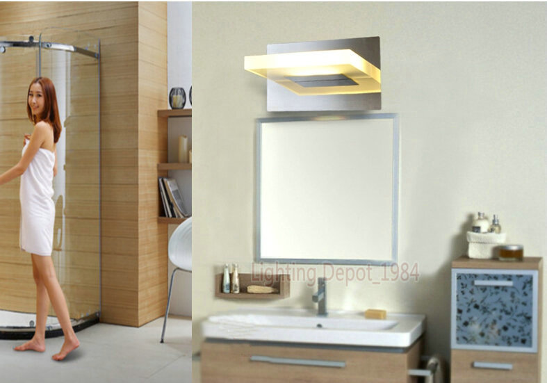 led stainless steel anti fog front mirror light bathroom vanity toilet waterproof makeup lamp ac110v affordable contemporary vanity lights