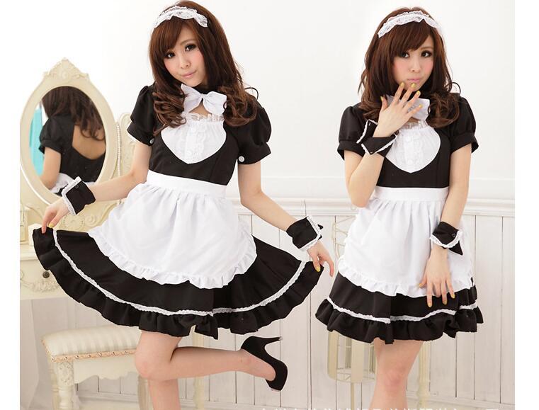 Sexy Maid Costume Sweet Gothic Lolita Dress Anime Cosplay -6183