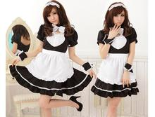 Sexy Maid Costume Sweet Gothic Lolita Dress Anime Cosplay Uniform Halloween Costumes For Women