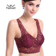 Black Women Bralette Bra Vest Sexy Lace Bra women Ladies Underwear padded  plus size Brassiere Bra Top seamless bra
