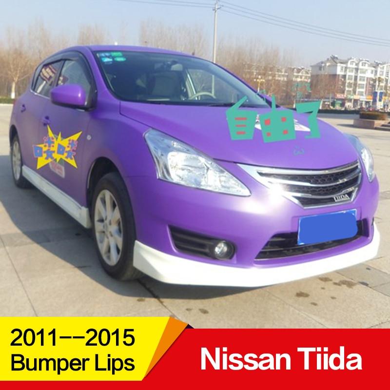 Utiliser pour Nissan Tiida pare-chocs lèvres 2011 12 13 14 15 ans PP corps en plastique kit pare-chocs lèvres avant arrière côté skire accessoires