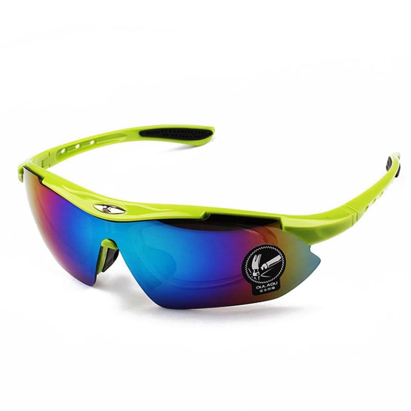 Prix pour Hommes Femmes Cyclisme Lunettes UV400 lunettes de Soleil Sports de Plein Air VTT Vélo De Route Lunettes De Protection à Vélo Coupe-Vent Multicolore
