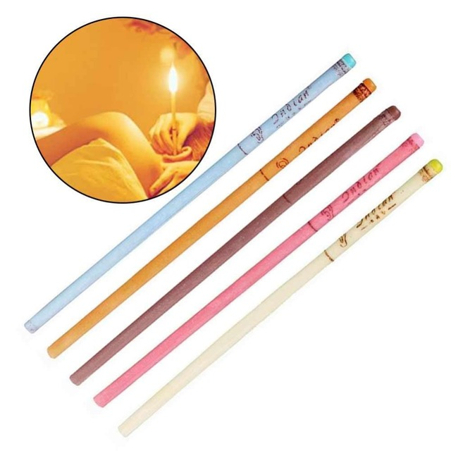 10pcs/lot Ear Wax Removal Candle Cleaning Candles Healthy Care Hollow Coning Treatment Indiana Therapy Fragrance Wax Candle Tool 3