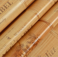Hot Sale Quality Wood Wallpaper Wine Box Plaid Wall Paper Three Dimensional Relief Papel De Parede