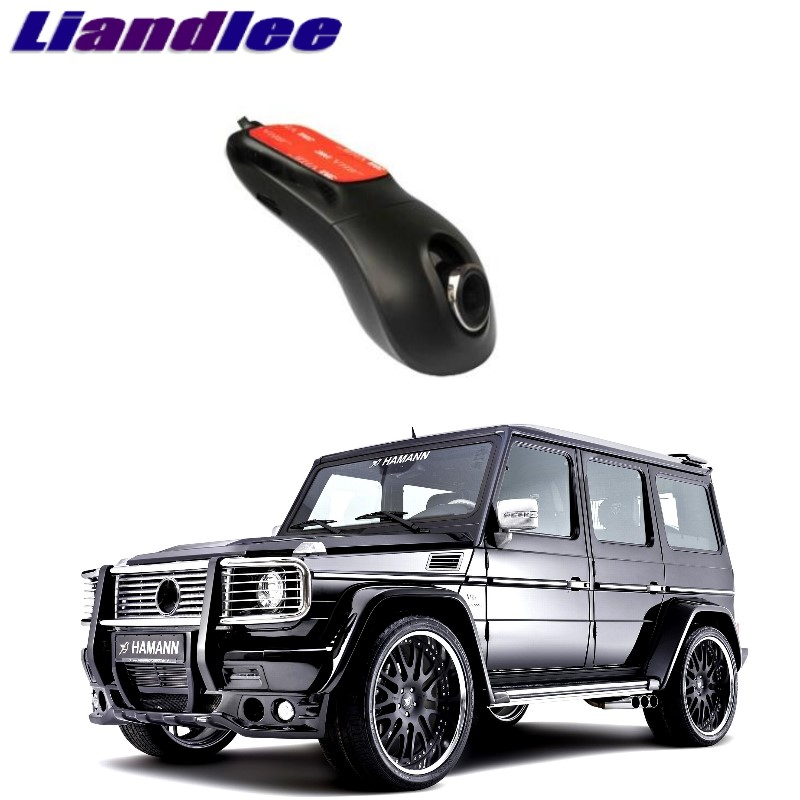 Liandlee For Mercedes Benz G MB 463 1990~2018 Car Black Box WiFi DVR Dash Camera Driving Video Recorder bigbigroad for nissan qashqai car wifi dvr driving video recorder novatek 96655 car black box g sensor dash cam night vision