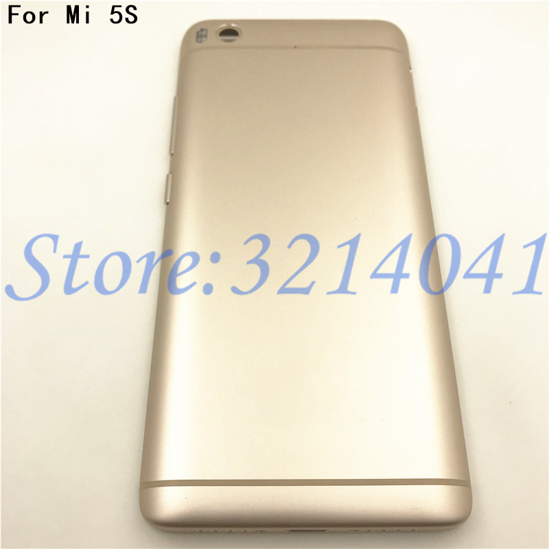 Original New For <font><b>Xiaomi</b></font> <font><b>Mi5S</b></font> <font><b>Battery</b></font> <font><b>Cover</b></font> Back Rear Door Housing + Power Volume Buttons + Camera Lens <font><b>Cover</b></font> for <font><b>Xiaomi</b></font> MI 5S image