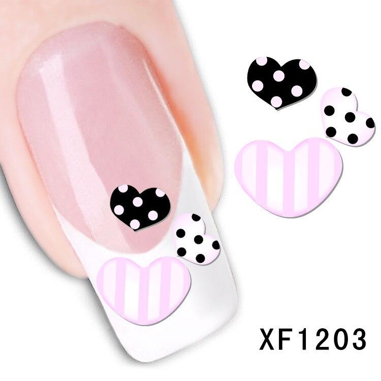 XF nail stickers nail art stickers flower  watermark sticker XF1203
