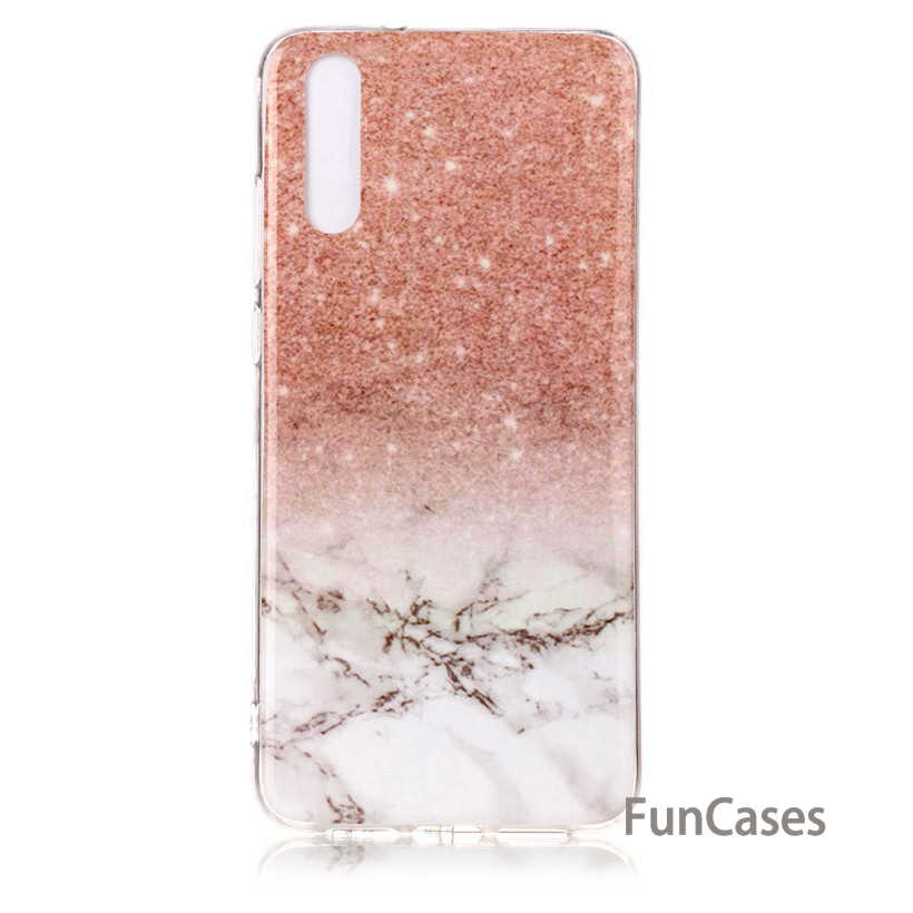 Case For Huawei P Smart P8 P9 Lite 2017 P9 Lite Mini P10 P20 Pro Lite Y5 Y6 2017 Case Marble Flower Soft Phone Cover Huwei