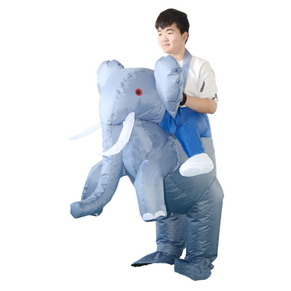 Animal Cosplay Inflatable Elephant Costume Halloween Party Cosplay Adult Men Inflatable Elephant Costumes
