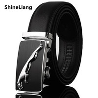 2015 Male Genuine Leather Strap Commercial Genuine Leather Belt Fashion Casual Suit Pants Automatic Buckle Belts