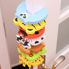 5pcs/lot Kids Baby Cartoon Animal Jammers Stop Edge Corner Guards Door Stopper Holder lock baby Safety Finger Protector TYM066 baby finger protector silicone stop door stopper lock pinch guard kids safety kids protector