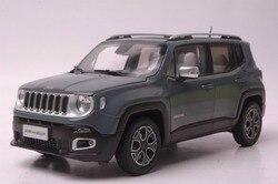 1:18 Diecast Model voor Jeep Renegade 2016 Grijs SUV Legering Speelgoed Auto Miniatuur Collection Gift