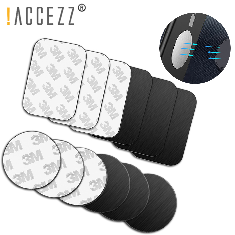 !ACCEZZ 10pcs/5pcs Lot Metal Plate Disk For Magnetic Mobile Phone Holder Car Holders Magnet Car Stand Mount Iron Sheet Sticker