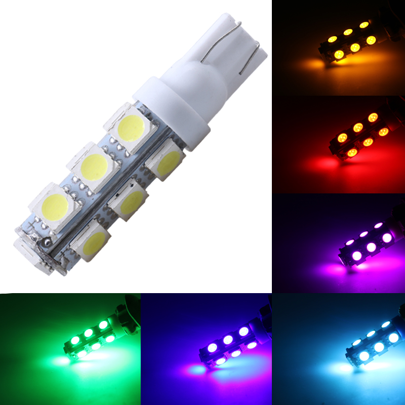 car styling 1pcs Auto T10 13 LED 5050 W5W Wedge Door Parking Bulb Light Car 5W5 LED Dome Festoon C5W C10W License Plate Light 10pcs auto t10 5 led 1w 5050 w5w wedge door parking bulb light car 5w5 led dome festoon c5w c10w license plate light xenon drl