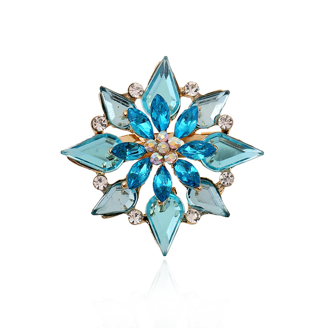 38ade7c59c1 Brooches For Wedding Bijoux Wedding Broches Fashion Vintage Women  Rhinestone Brooch Blue Crystal Flowers Brooches Pins 1X032. 1 order