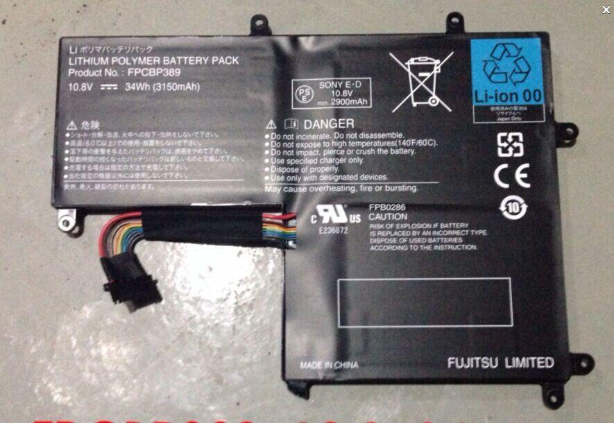 FPCBP389 Genuine Original Battery For Fujitsu E236872 CP588141-01 FPB0286 34Wh laptop