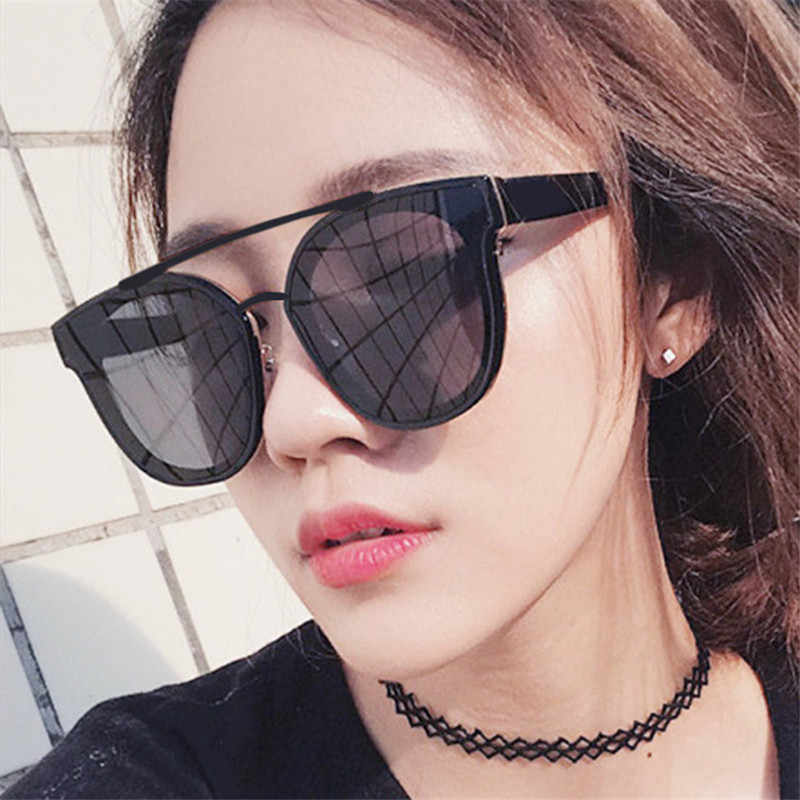 GUANGDU Large Frame Fashion Colored Wild Ultralight Oval Cat Eye Goggle Sunglasses Women Brand Designer Classic Glasses UV400