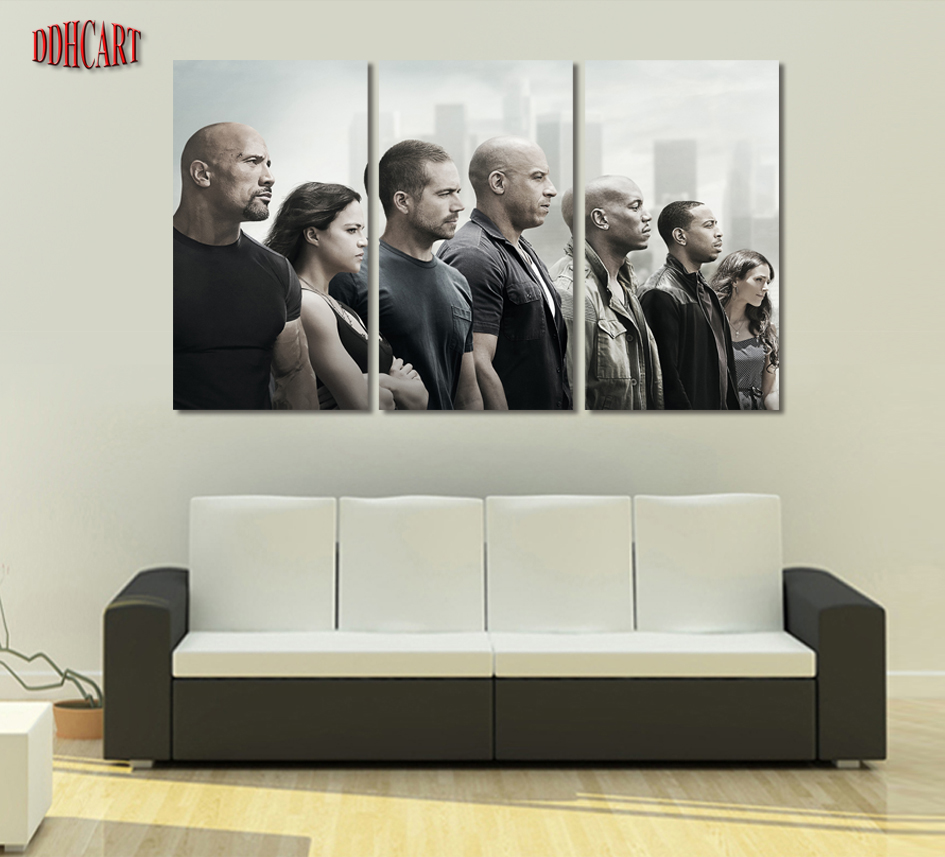 Fast And Furious Bettwäsche Us 36 3 Piece Fast Furious Modern Home Wall Decoration Canvas Picture Art Hd Print Painting Set Of 5 Each Canvas Arts Poster In Painting