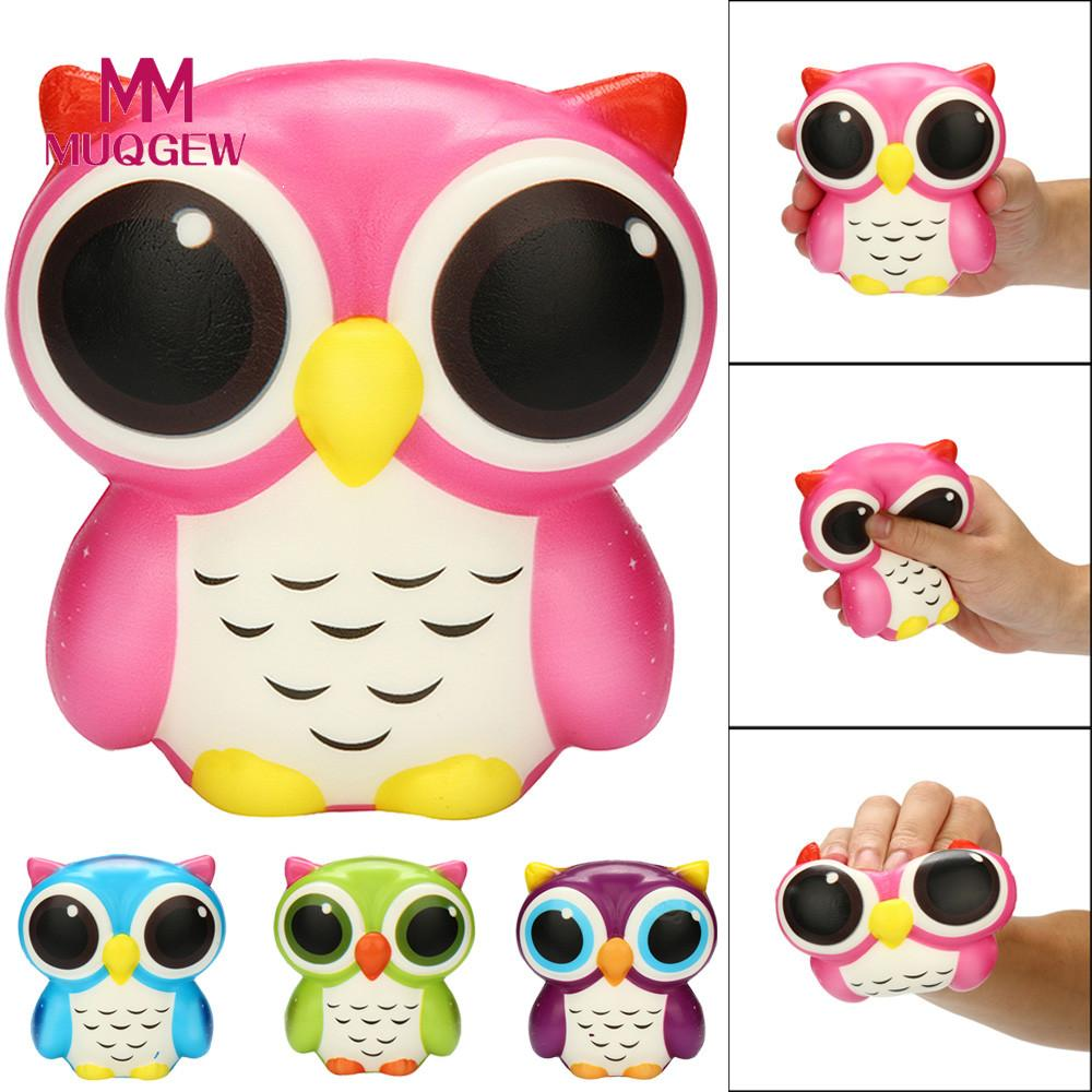 Owl Shape Squeeze Toy Adorable Owl Squishy Slow Rising Cartoon Doll Cream Scented Stress Relief Toy Children Adults /PY
