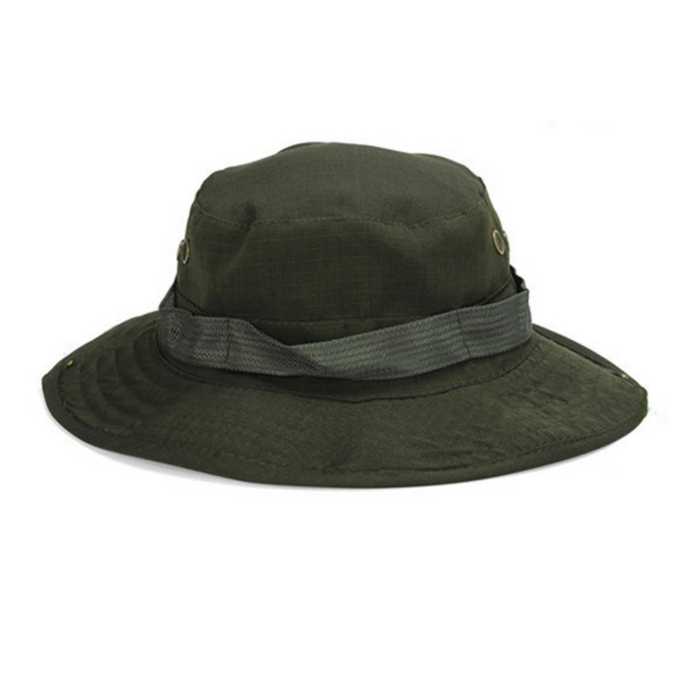 5e46ef823ed Men Summer Jungle Camouflage Boonie hat Fisherman cap bucket hat military  cap for men gorro pescador travel sunhat-in Bucket Hats from Apparel  Accessories ...