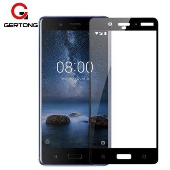 Перейти на Алиэкспресс и купить Закаленное стекло 9H с полным покрытием для Nokia 6 5 8 3 2 7 Plus X6 X5 Plus 2 5 2018 9 7,1 5,1 Plus, тонкая защитная пленка