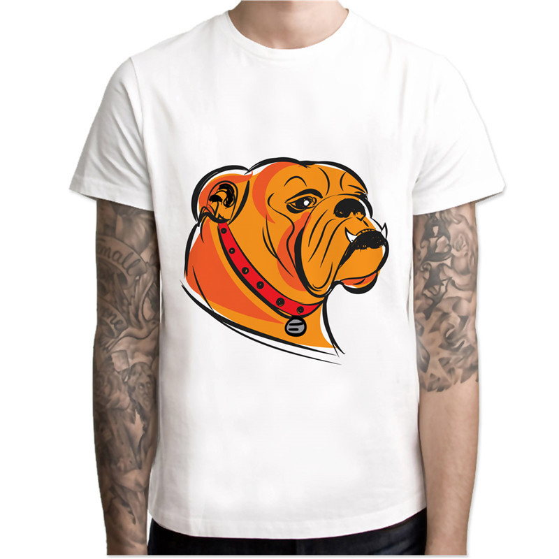 Tops & Tees Steady Bulldog Bull Dog Bull-dog T Shirt Men Print T-shirts Fashion Print T-shirts Male O Neck Tees Mcr124
