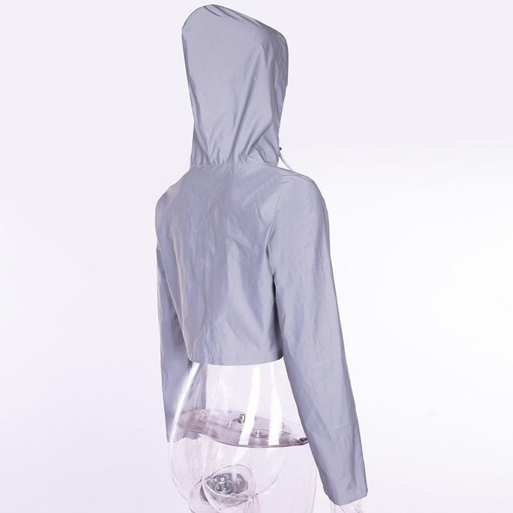 Светоотражающая куртка укороченная Толстовка уличная одежда толстовки Светоотражающая одежда s m l светится в темноте Женская куртка