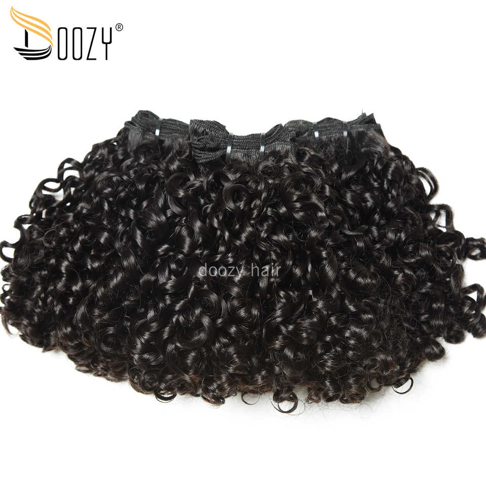 Doozy virgin Peruvian human hair 3 bundles 300grams pixie curl super double drawn funmi hair virgin human hair bundles