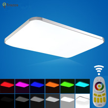 NEW Modern LED Ceiling Light With 2.4G RF Remote Group Controlled Dimmable Color Changing Lamp For Livingroom Bedroom