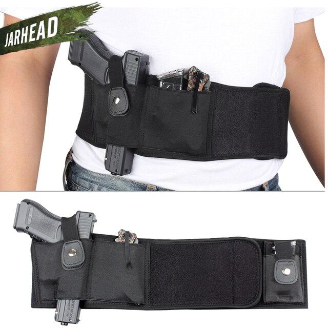 Universal Tactical Banda Barriga Ocultaram Transportar Pistola Coldre Bolsa Saco Da Cintura Invisível Cinto Cinto Elástico para a Caça Ao Ar Livre