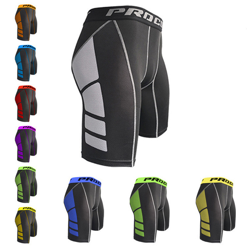 2019 Sport Wear Compression Shorts Summer Workout Slimming Fit Bodybuilding Brand Clothing Breathable Quick Dry Male Short SA-8