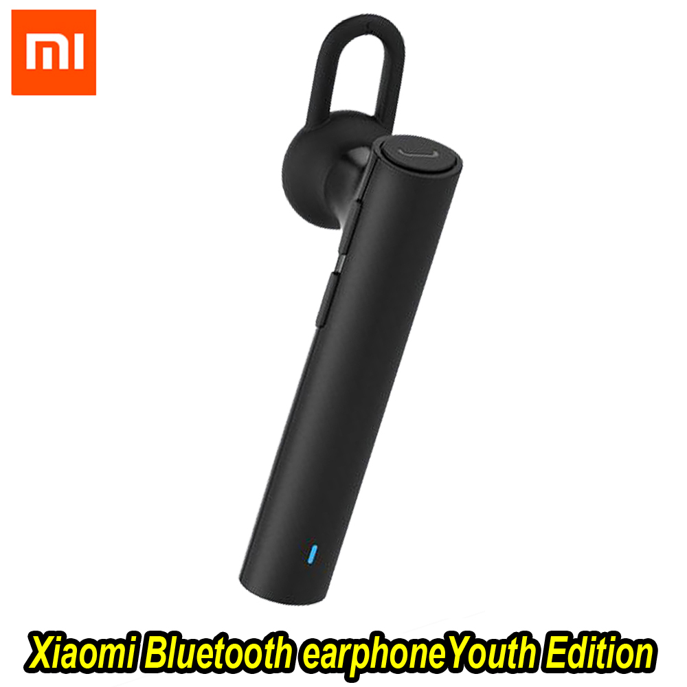 все цены на 100%Xiaomi Bluetooth Youth Edition earphone Headset Bluetooth 4.1 Xiaomi Mi LYEJ02LM Earphone Build-in Mic Handfree