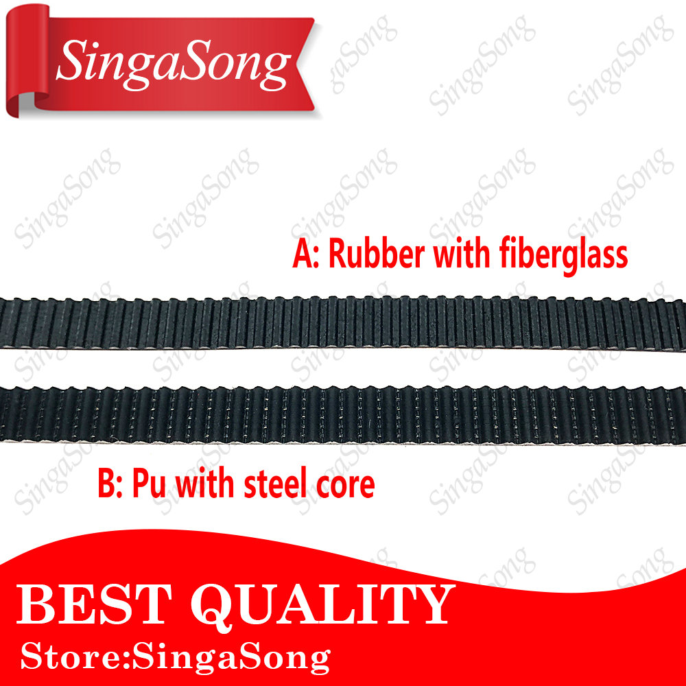 10M/lot PU with Steel Core GT2 Belt Black Color 2GT Timing Belt 6mm 10mm Width 10M a Pack for 3d printer Free Shipping