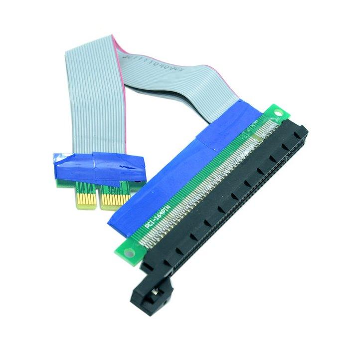 Riser PCI-E pcie PCI-Express PCI Express 1x 16x pci-e pcie x1 x16 Extension Flex Cable Extender Converter Riser Card Adapter